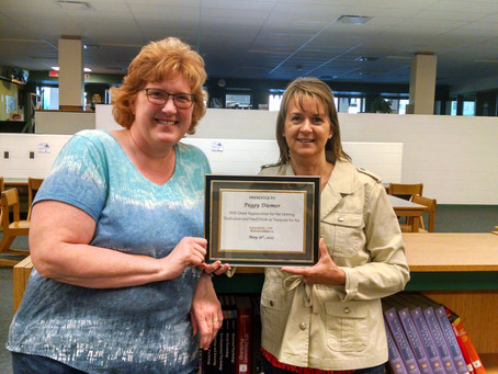 Thank You & Words of Appreciation for Music Boosters Treasurer Peggy Diemer