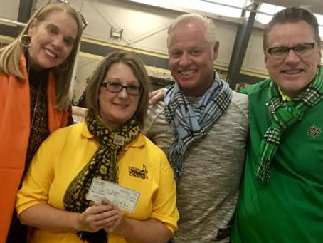 SYCAMORE MUSIC BOOSTERS ACCEPT DONATION IN HONOR OF THE LATE MARY A.  CURZON