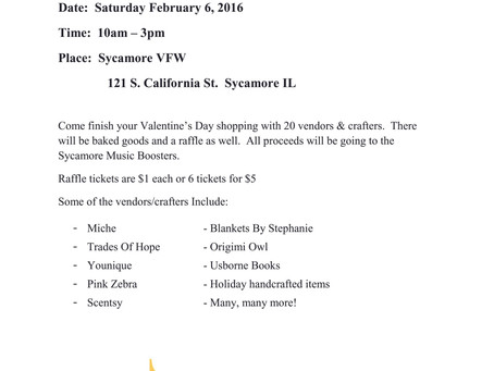 VALENTINE'S DAY FUNDRAISER SET TO BENEFIT SYCAMORE MUSIC BOOSTERS