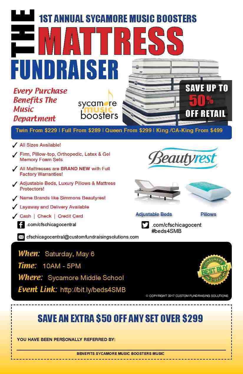 Mattress Fundraiser Flyer