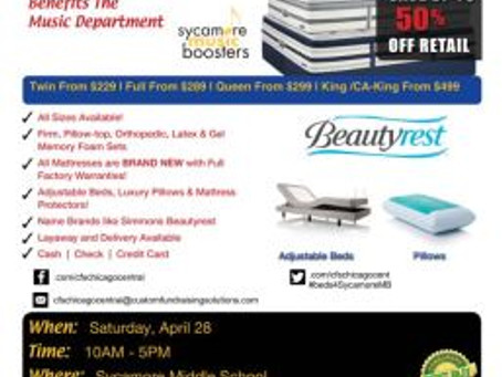 2nd Annual Mattress Sale – April 28!