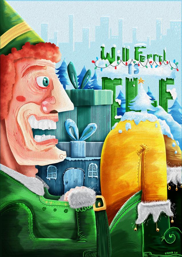 ELF movie christmas poster.