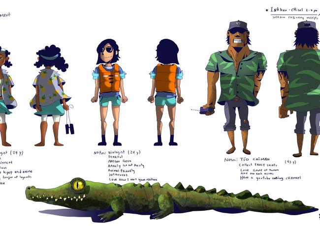 The Caiman character sheet