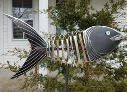 Wrench Fish Garden Art
