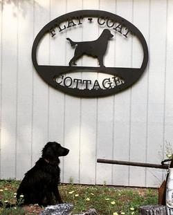 Flat-Coat Cottage Sign
