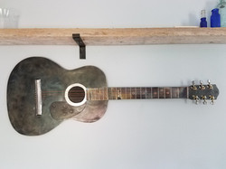 Guitar with Recycled Parts