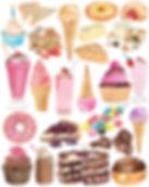 dessert illustration watercolour sweet treats ice cream painting