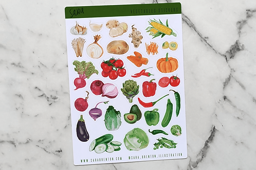 Vegetable Stickers Small