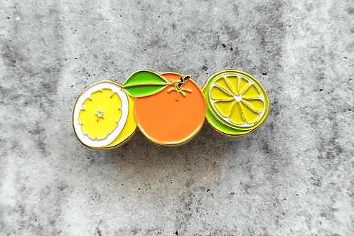 Lemon Orange Lime Brooch