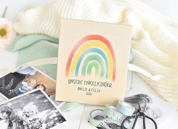 leporello, unsere enkelkinder, fotoalbum personalisiert, geschenk für oma, opa