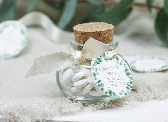 Gastgeschenke kommunion, konfirmation, korkenglas, geschenke für Gäste