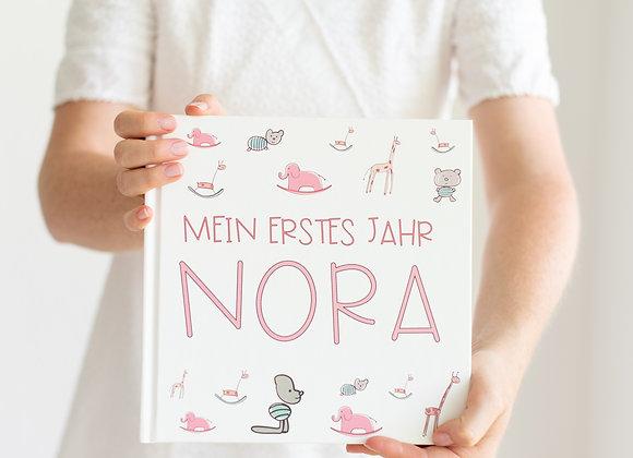 Babybuch zum eintragen, mit namen, personalisiert geschenk für das Baby, mein erstes jahr buch, babybuch zum ausfüllen