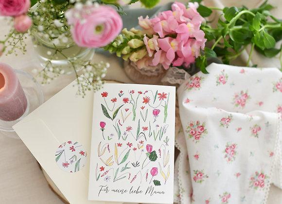 muttertagsgeschenk, muttertag geschenk, muttertagskarte, karte für mama, muttertag blumen