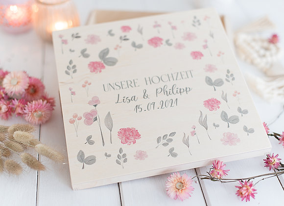 Erinnerungskiste zur Hochzeit - Sommerwiese