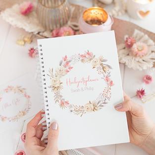 hochzeitsplaner, wedding planner, verlobungsgeschenk trockenblumen liebe , verlobungsgesch