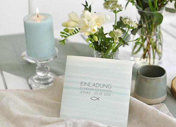einladungskarte kommunion, einladungskarte konfirmation, einladungskarte firmung, einladungskarte taufe, pink, aquarel