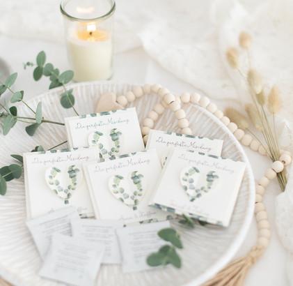 Gastgeschenke zur Hochzeit mit Blumensamen