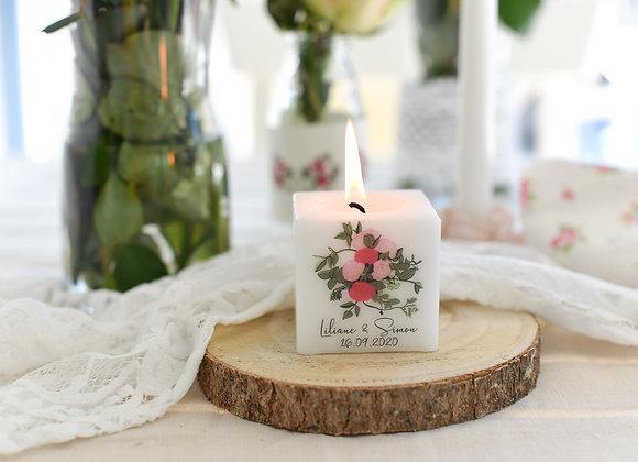 bedruckte kerze hochzeit, hochzeit, kerze, gastgeschenke hochzeit, geschenke für Hochzeitsgäste,