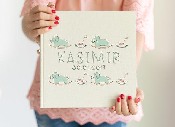 fotoalbum personalisiert für baby, fotoalbum bedruckt mit Namen
