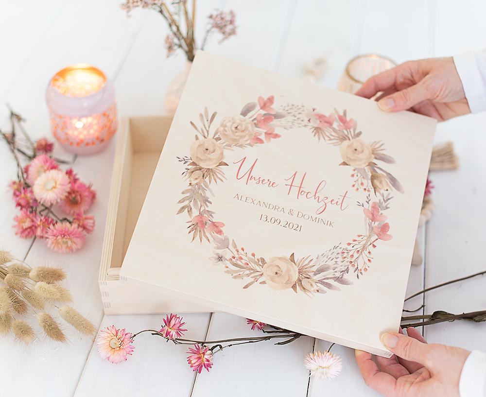 Aufbewahrungskiste zur Hochzeit, erinnerungskiste