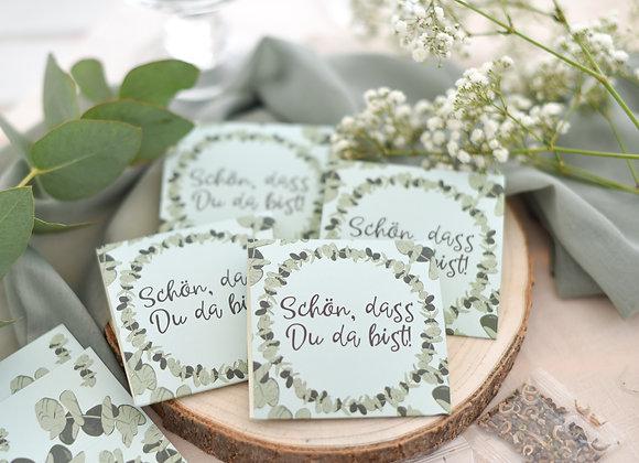 gastgeschenke zur hochzeit, geschenke an Hochzeitsgäste, gastgeschenke blumensamen, personalisierte gastgeschenke, eukalyptus