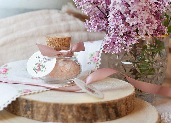 Gastgeschenk zur Hochzeit Korkgläschen - Garden of Love
