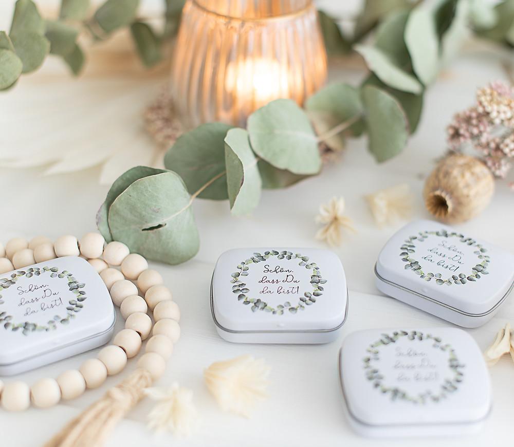 gastgeschenke zur Hochzeit eukalyptus