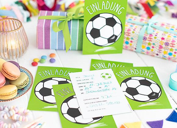 einladung kindergeburtstag, einladung junge, einladung mädchen, einladungskarten, fussball