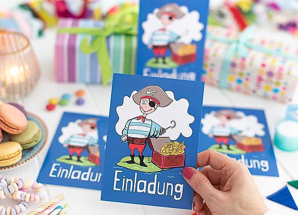 Einladungskarten Kindergeburtstag Pirat