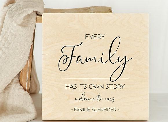Family bild, Familien Wanddeko, wilkommen poster