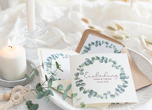 einladung hochzeit, eukalyptus, hochzeiteinladung