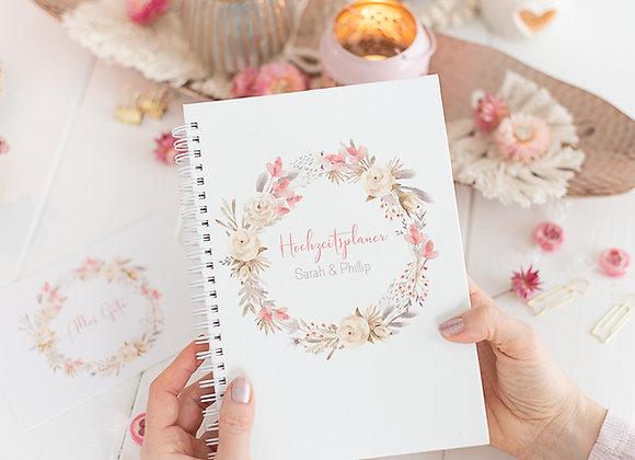 Hochzeitsplaner, wedding planner, verlobungsgeschenk, geschenk für brautpaar, trockenblumen liebe , hochzeitsplanung,