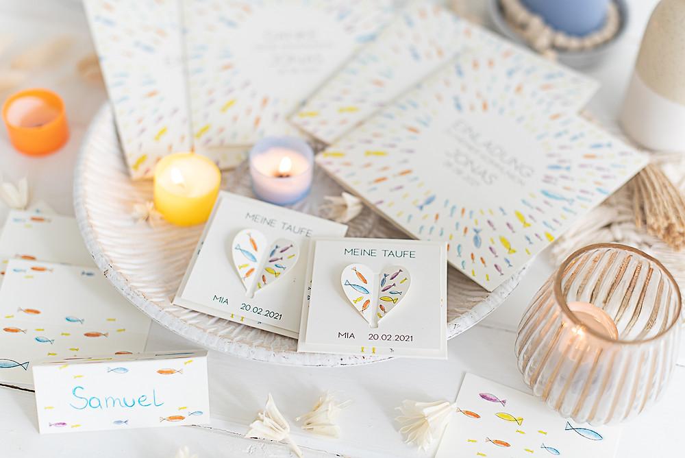 konfirmation, kommunion gastgeschenke, einladung, personalisiert regenbogen, watercolor