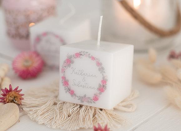 3 Stück personalisierte Kerzen - Sommerwiese