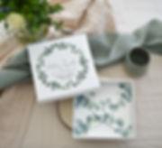 originelle Geld Verpackung - personalisiert - eukalyptus