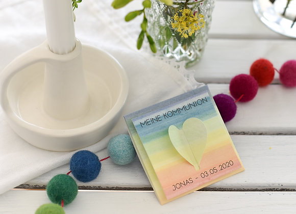 Gastgeschenke inkl. Blumensamen Rainbow - mit Personalisier