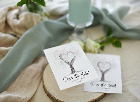 save the date, tree of love, baum der liebe, liebesbaum, originell,