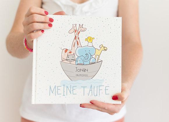gästebuch zur Taufe, arche noah, buch für gäste mit fragen, erinnerungsbuch taufe, fotoalbum taufe, geschenk zur Taufe