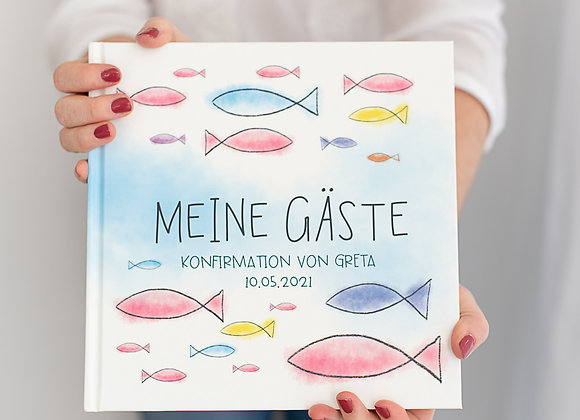 gästebuch konfirmation, kommunion, taufe, erinnerungsbuch, eintragsalbum