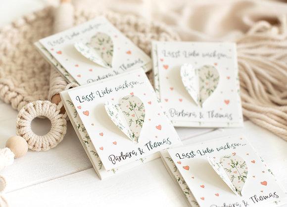 gastgeschenke zur hochzeit, hochzeit blumensamen, geschenke für Hochzeitsgäste, Tischkärtchen hochzeit, give away hochzeit
