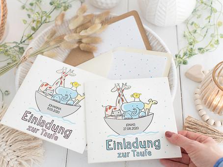 7 wunderschöne Ideen im einheitlichen Stil für die Taufe Eures Kindes - Arche Noah