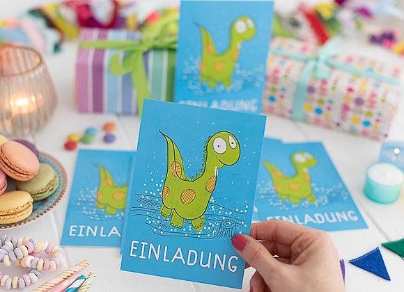 einladung kindergeburtstag, einladung junge, einladung mädchen, einladungskarten, dino, dinosauria