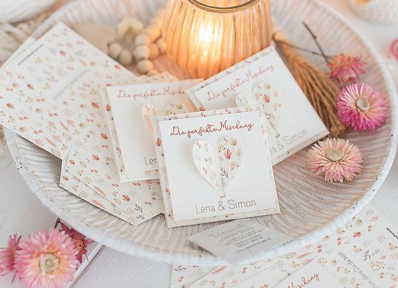 Gastgeschenke hochzeit blumensamen trockenblumen, hochzeit blumensamen, give away, personalisiert, originell