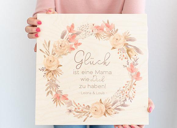 Muttertagsgeschenk - Holzbild - personalisiert