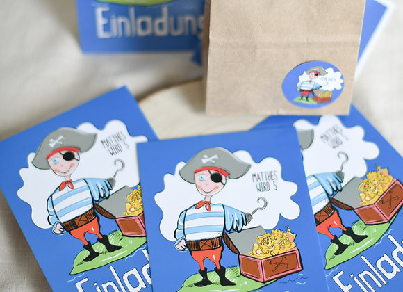 einladungskarten zum kindergeburtstag, kindergeburtstagskarten, einladungen personalisiert, pirat, schatzsuche, mottogeburtst