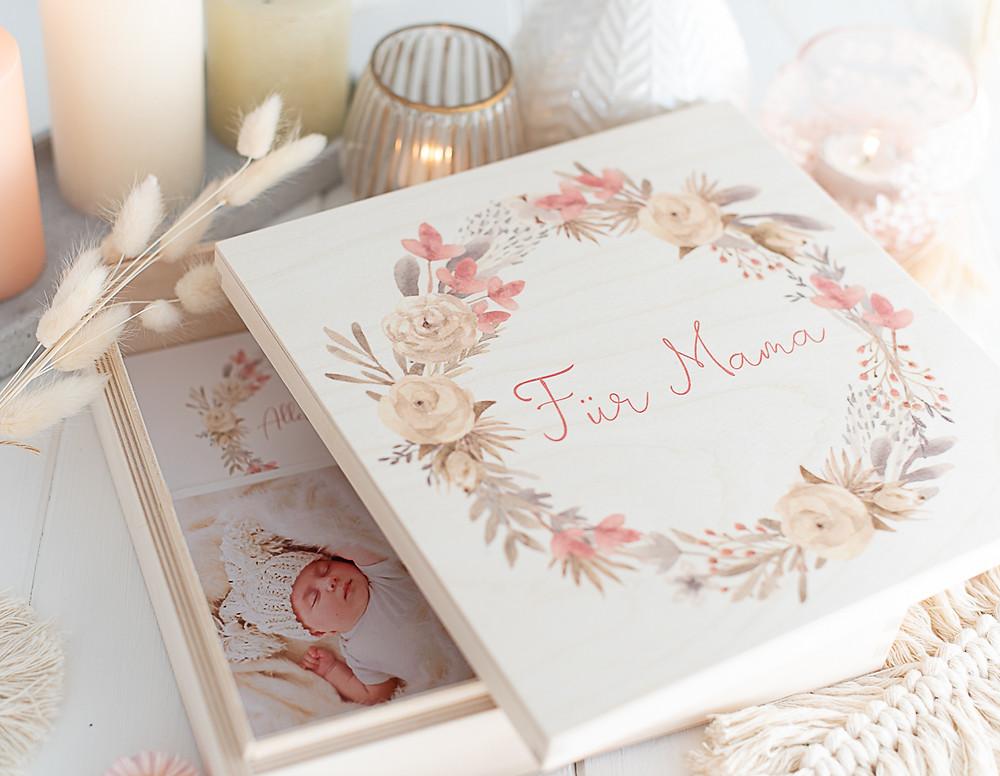Fotokiste zum Mutterrag, Geschenk für Mama zum Mama Tag, Erinnerungskiste mit Mama