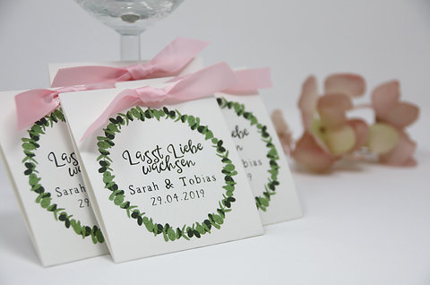 Gastgeschenke Zur Hochzeit Inkl Blumensamen Eukalyptus