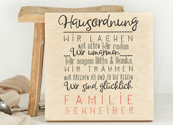 Hausordnung - Familie