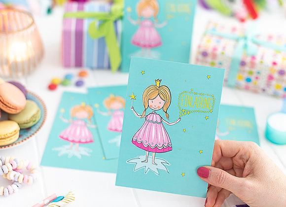 einladung kindergeburtstag, einladung junge, einladung mädchen, einladungskarten, prinzessin, fee