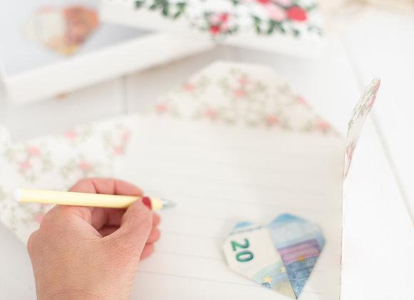 geldgeschenk hochzeit personalisiert, geldgeschenk mit namen, geldgeschenk zur Hochzeit, geldgeschenk für Brautpaar, geld ver
